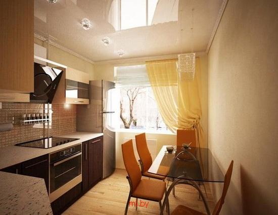 Дизайн кухни 7 кв.м с балконом