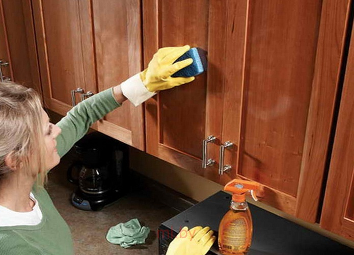 Чем почистить шкаф в домашних условиях 10