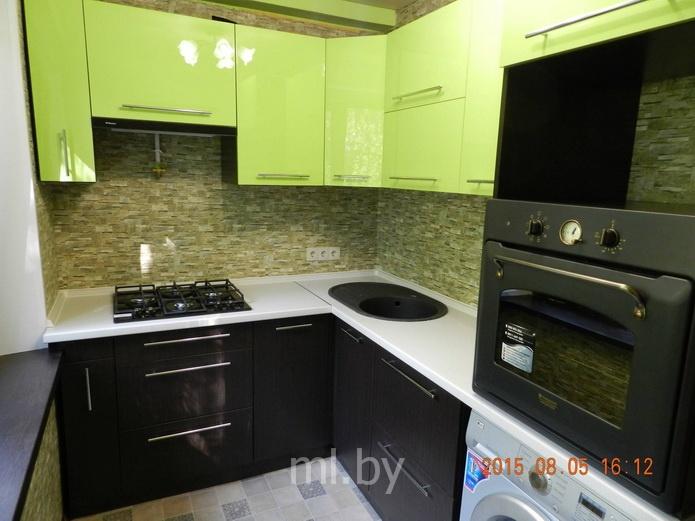 Фото кухни венге с салатовым