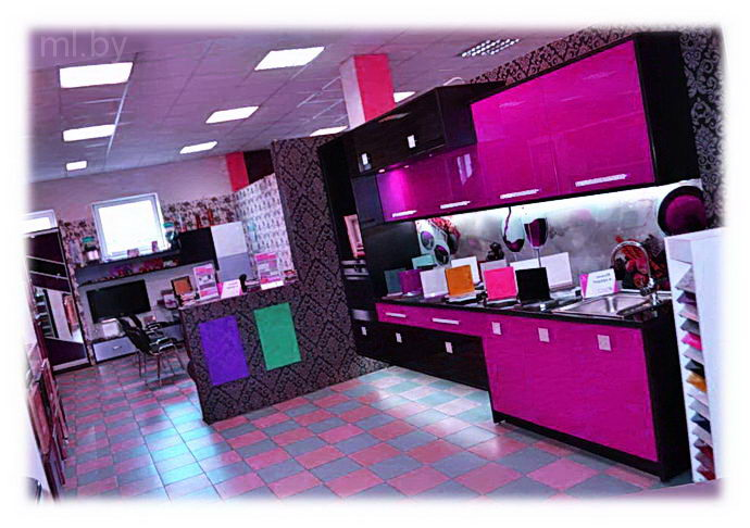 Интерьер салона дизайн-студии корпусной мебели под заказ