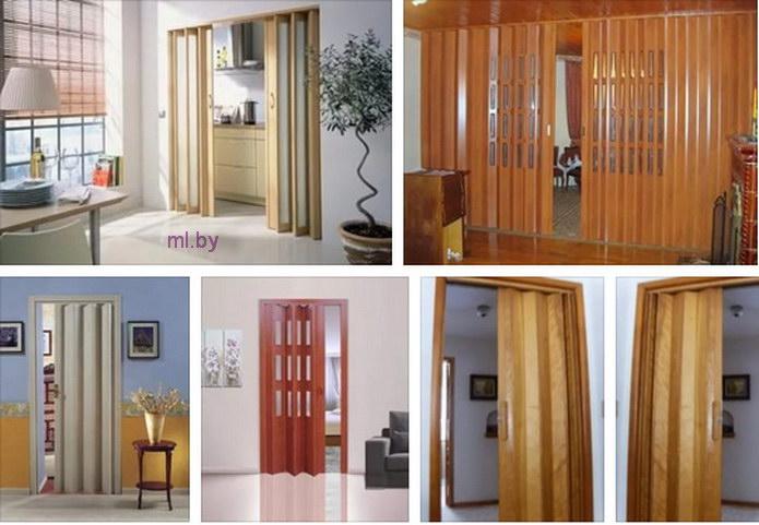 сдвижная дверь или дверь гармошка на кухню Mlby