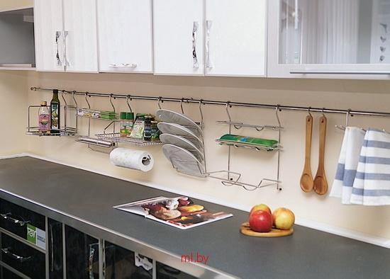 Рейлинги на кухне под заказ в Минске  удобно, практично и красиво, вариант- fb0f475380a